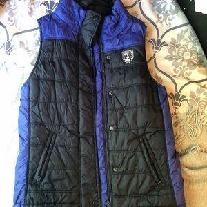 American eagle blue puffer vest